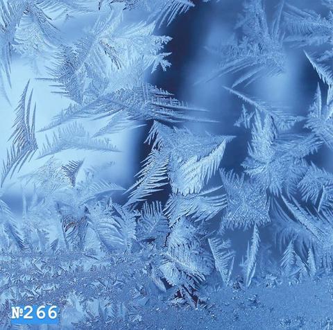 Фотофон виниловый «Синий морозный узор» №266