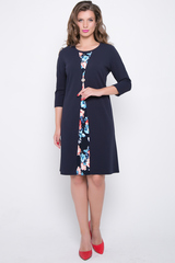 """<p>Шикарное платье для любого торжества! Фасон """"рисует"""" красивые изгибы, цветочная деталь """"вытягивает"""" силуэт. (Длины: 46-50=97см; 52-54=98см)</p>"""