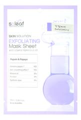 Тканевая маска для лица с экстрактом папайи Skin Solution Exfoliating Mask Sheet 25мл