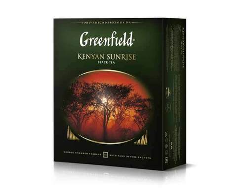 Чай черный в пакетиках из фольги Greenfield Kenyan Sunrise, 100 пак/уп