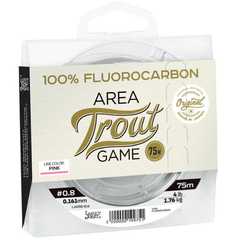 Леска LUCKY JOHN Area Trout Game Fluorocarbon Pink 75 м – 0,180 мм