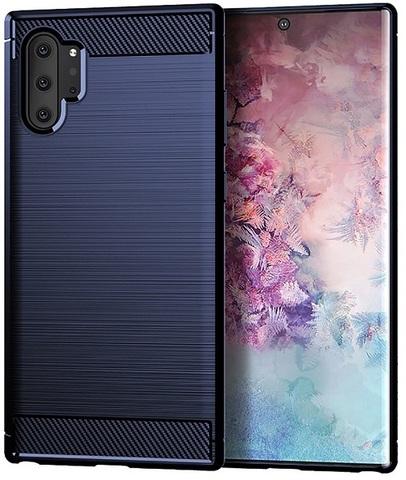 Чехол Samsung Galaxy Note 10+ цвет Blue (синий), серия Carbon, Caseport