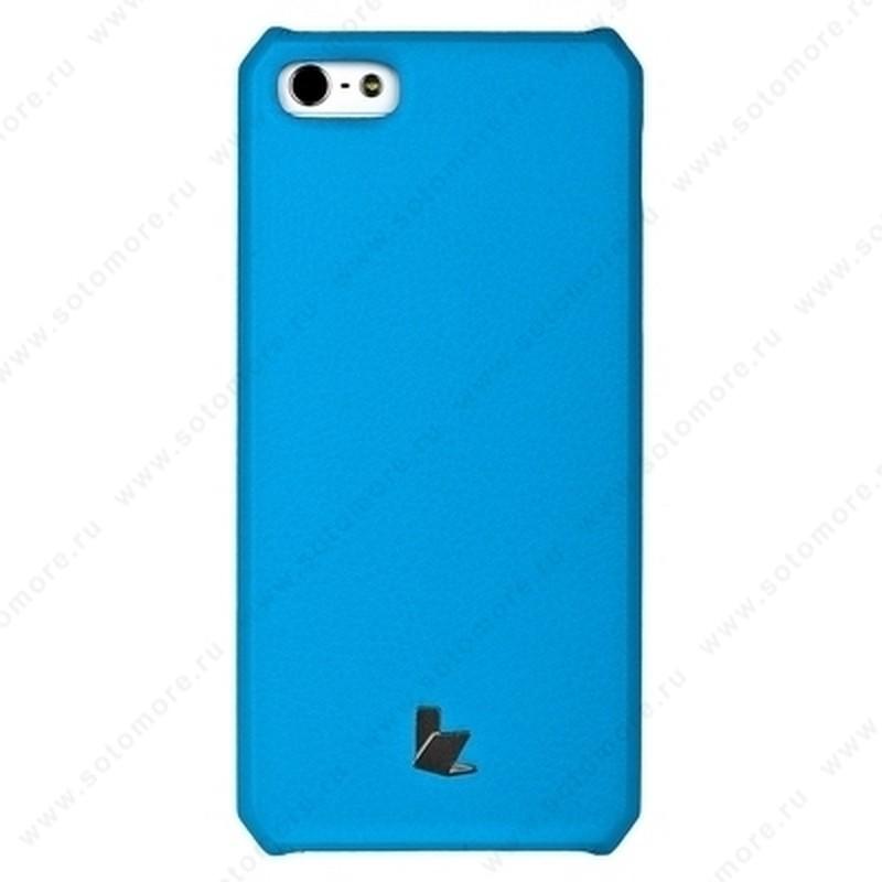 Накладка Jisoncase для iPhone SE/ 5s/ 5C/ 5 цвет голубой JS-IP5-01H