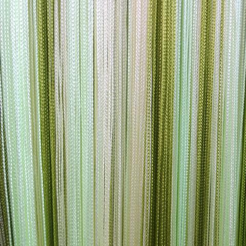 Кисея радуга Оливковая, салатовая, белая. Ш-300см., В-280см. Арт.15-19-1