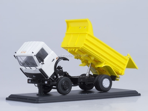 MAZ-5551 tipper later white-yellow Start Scale Models (SSM) 1:43