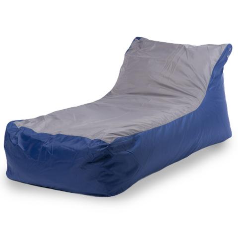 Бескаркасное кресло «Кушетка», Сине-серый
