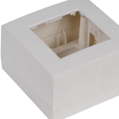 SM45 Коробка для открытой проводки на 1 пост 45х45 мм. Цвет Белый. Ecoplast (ЭКОПЛАСТ). 72914