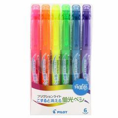 Текстовыделители неоновые Pilot FriXion Light (6 цветов)