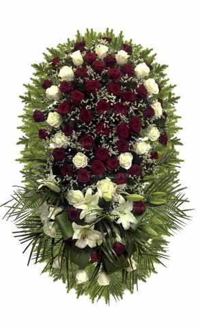 Венок из живых цветов №20 (160 см)