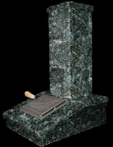 Облицовка на трубу Серпентинит, высота 790мм. ПБ-01/02/01-ЗК/02-ЗК Президент/Русский пар