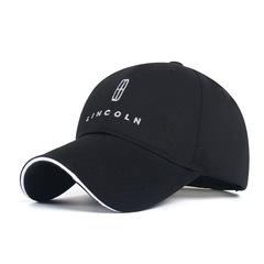 Модная бейсболка с вышивкой Линкольн (Кепка Lincoln) черная