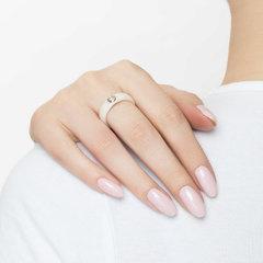 6015020 - Кольцо керамическое из золота с бриллиантом