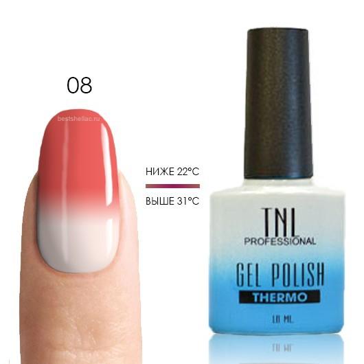 Термо TNL, Термо гель-лак № 08 - розовый/белый, 10 мл 08.jpg