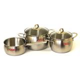 """Набор посуды """"ОКЕАН"""" 3 предмета, артикул 636124V80420, производитель - Silampos"""