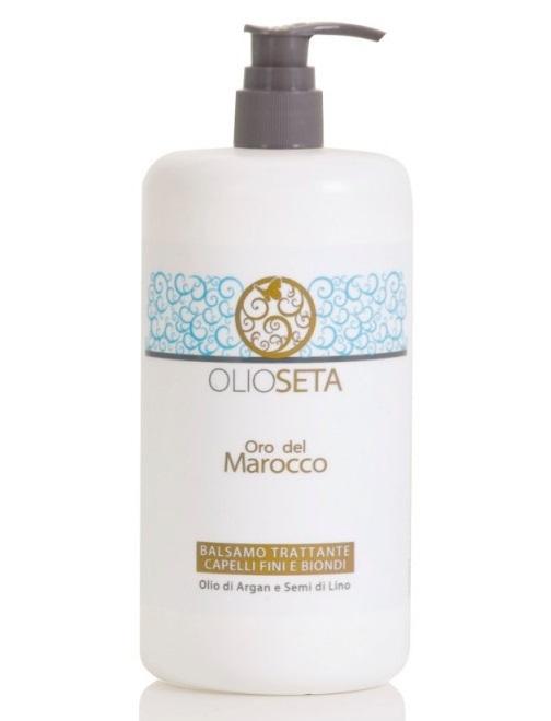 Увлажняющий кондиционер для тонких и светлых волос с маслом арганы и маслом семян льна OLIOSETA Oro del Marocco