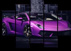 "Модульная картина ""Purple Lamborghini"""
