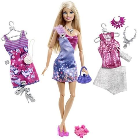 Барби Fashionistas Кукла с Большим гардеробом