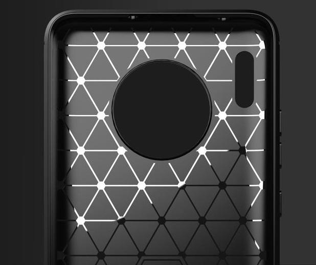Чехол Huawei Mate 30 цвет Gray (серый), серия Carbon, Caseport