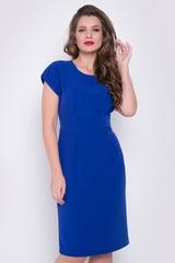 <p>Элегантное платье приталенного силуэта из костюмной ткани. Отличный офисный вариант. Функциональные карманы. Талия завышена, по спинке изделия потайной замок.(Длины: 46-92см; 48-93см; 50-94см; 52-95см; 54-95см)</p>