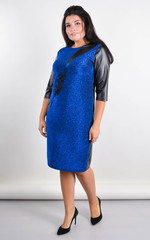 Гала. Нарядное платье большого размера. Электрик.