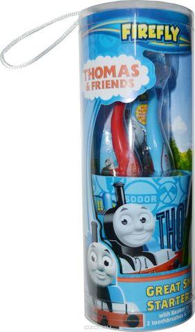 Набор дентальный Thomas & Friends: зубная щетка 2 шт + зубная паста 75 мл + стаканчик