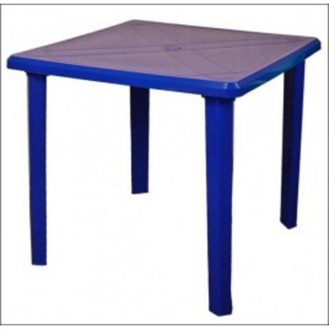 Пластиковый квадратный стол синий (ИжПласт)