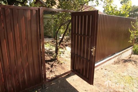 Распашные ворота с калиткой 5000Х2000 мм