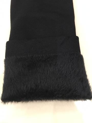 Легинсы зимние на начесе цвет черный