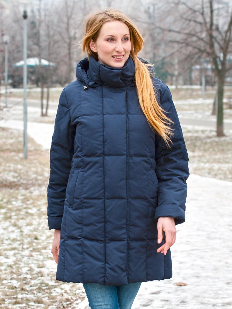 Joutsen пуховик Alison темно-синий - Фото 1