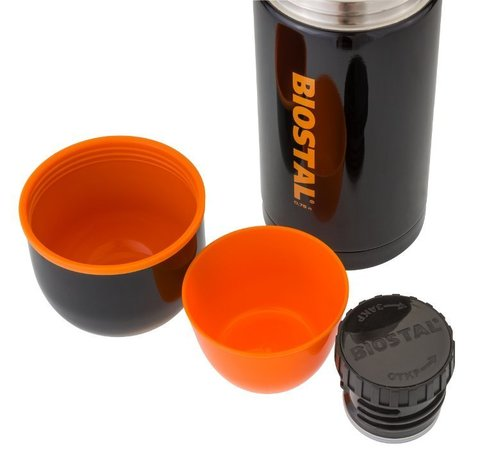 Термос Biostal Спорт (1 литр), черный