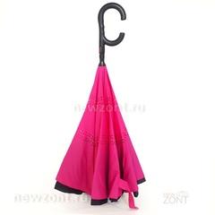 Зонт-наоборот Umbrella фуксия полуавтомат