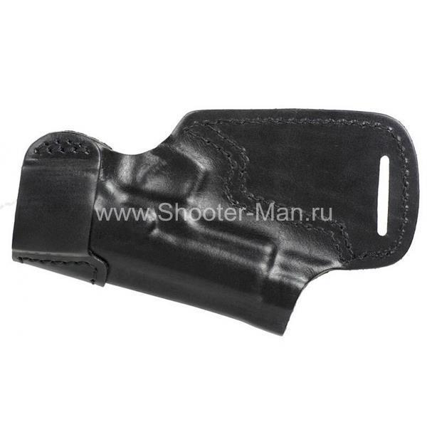 Кобура кожаная за спину для пистолета Глок 17 ( модель № 10 )