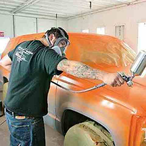 Покраска Land Rover Defender база лак