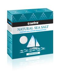 Соль морская «Setra» йодированная мелкая 500 г