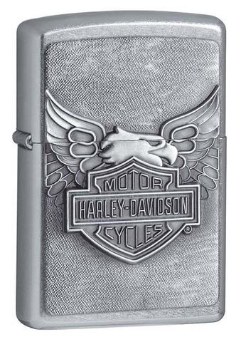 Зажигалка Zippo Harley-Davidson, латунь/сталь с покрытием Street Chrome, серебристая, 36x12x56 мм123