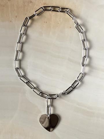 Колье Эфра, серебряный цвет