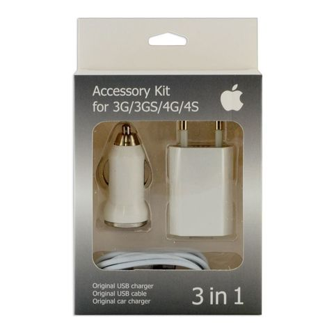 Комплект СЗУ iPhone 4 (3 в 1)