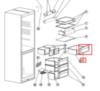 Панель овощного ящика для холодильника Indesit (Индезит)/Ariston (Аристон) - 375758, 488000375758