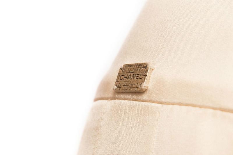 Элегантная шелковая юбка в складку от Chanel, 36 размер