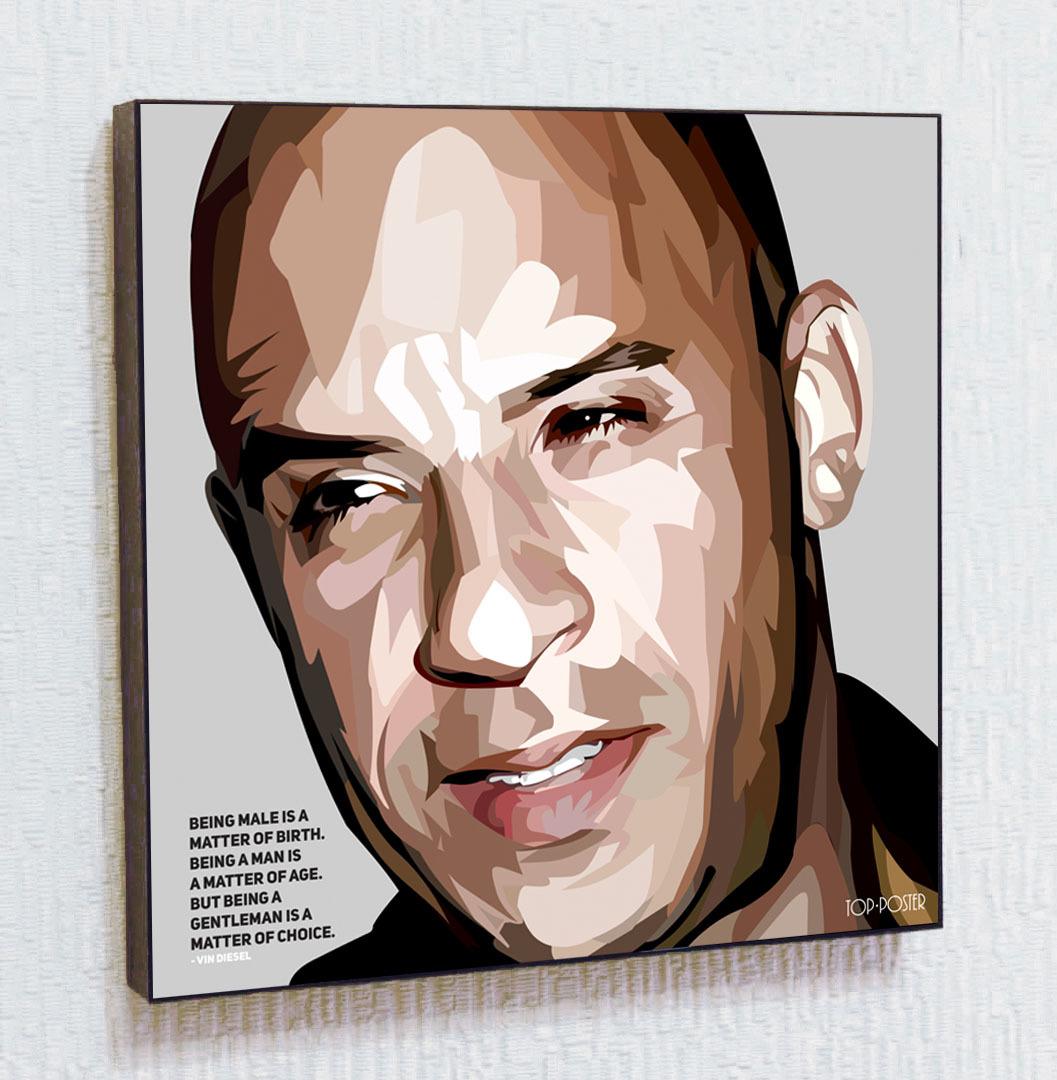 Вин Дизель Картина ПОП-АРТ постер портрет