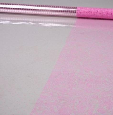 Пленка Вернисаж и точки (размер:80см х 7м) Цвет:розовый