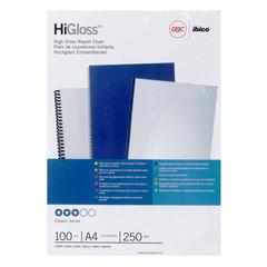 Обложки для переплета картонные GBC А4 250 г/кв.м белые глянцевые (100 штук в упаковке)