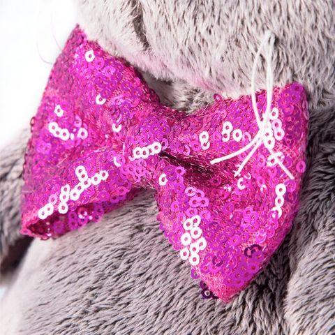 Кот Басик в галстуке-бабочке в пайетках