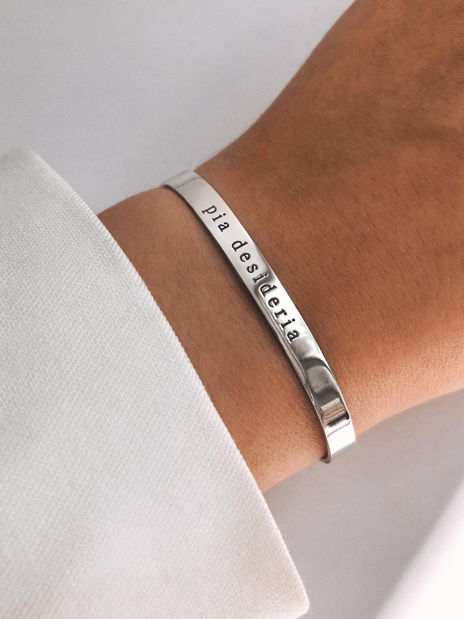 Серебряный каркасный браслет