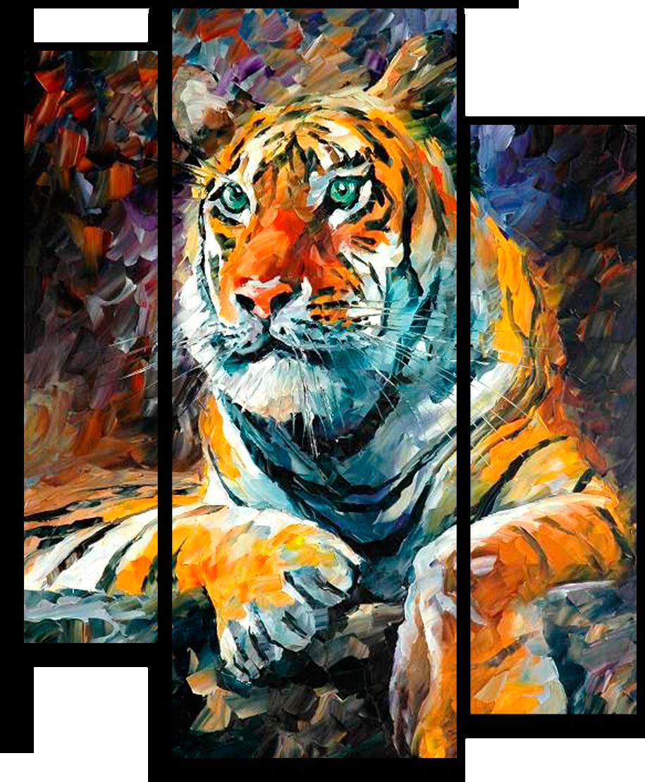"""Животные Модульная картина """"Сибирский тигр"""" М683.png"""