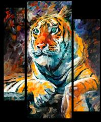 "Модульная картина ""Сибирский тигр"""