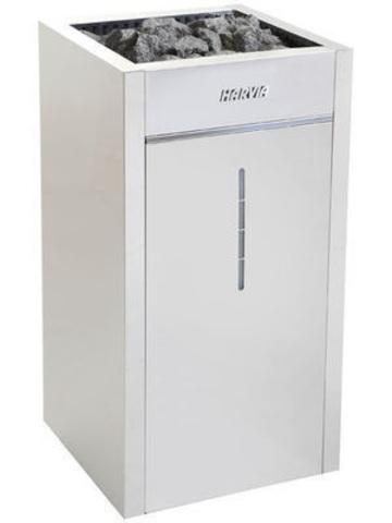 Harvia Электрическая печь Virta Combi HLS70S Steel  HLS700400S 6,8 кВт (с парогенератором, ручной залив воды, без пульта)