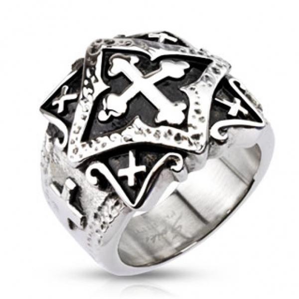 Перстень с крестом для мужчин и женщин SPIKES R-H3790