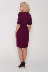 """<p>Современное платье прямого силуэта с поясом по талии. Рукав """"мышь"""" на манжете. Отличный офисный вариант. Длина платья: 46-48- 97см, 50-52-98см,54-99см</p>"""