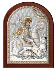 Серебряная икона Святой Георгий